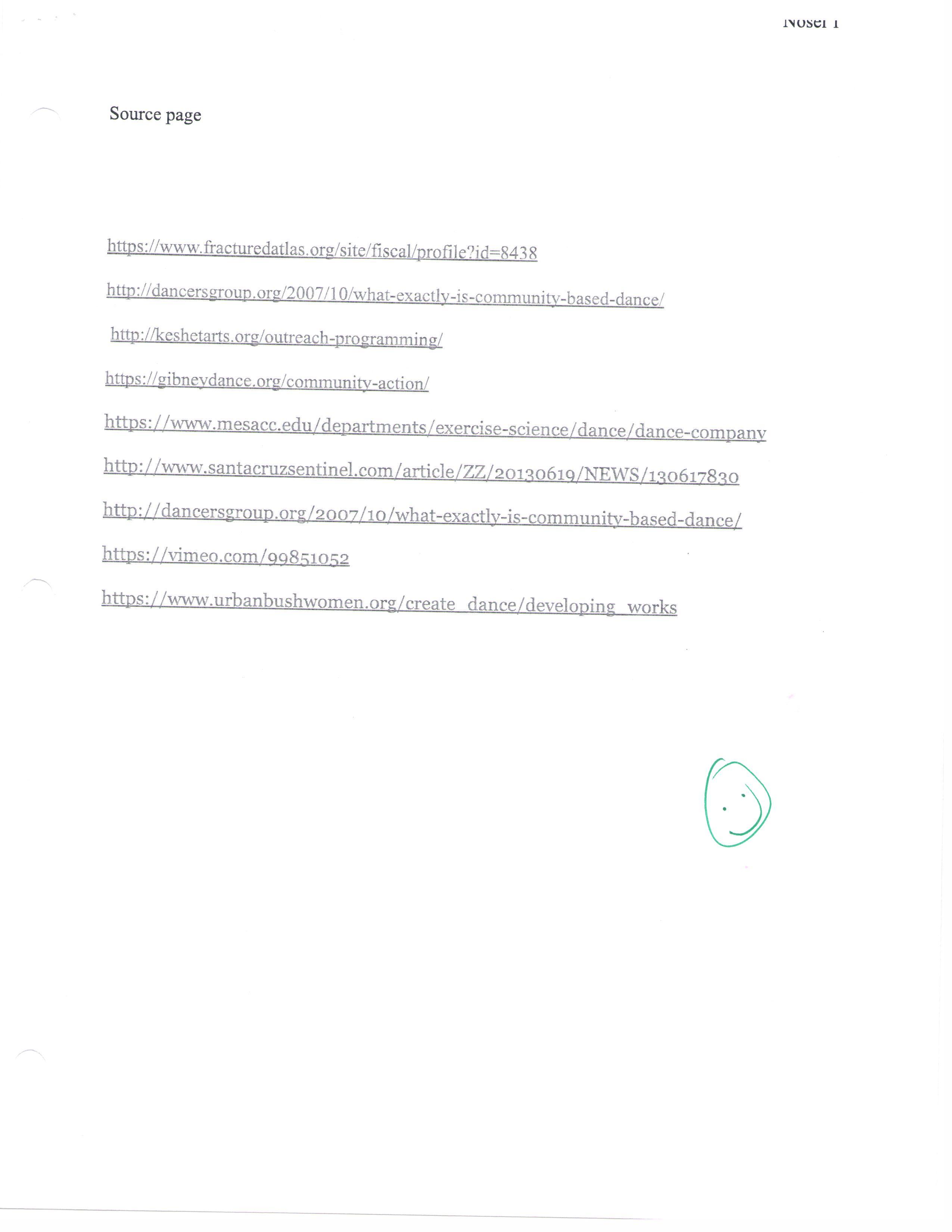 Example of dance teamwork essay